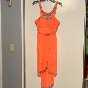 Peach formal - prom dress